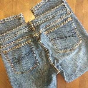Stetson crop jeans with studs